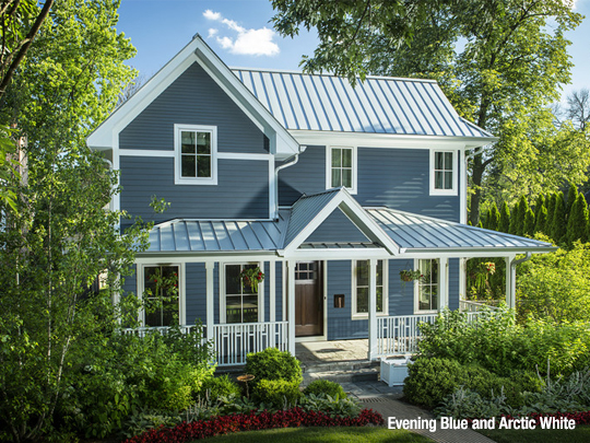 Siding and trim color combinations james hardie - White house with blue trim ...