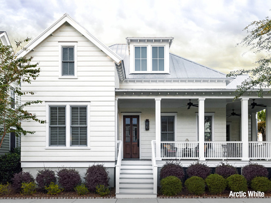 Any Siding Color Gets A Boost From The Brightness Of White Trim Including With Unifies Home S Various Accents