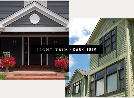 Should My Trim Be A Lighter Or Darker Color Than The Body Of My Home?  Lighter Trim Colors Are Usually The Best Choice, Since The Eye Goes To The  Lightest ...