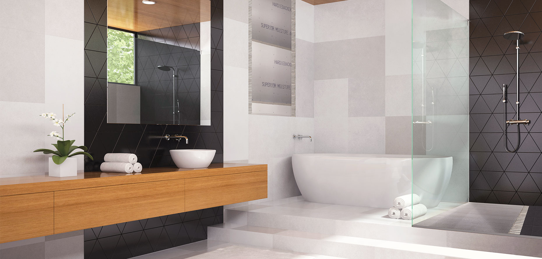 HardieBacker® Cement Board Bathroom
