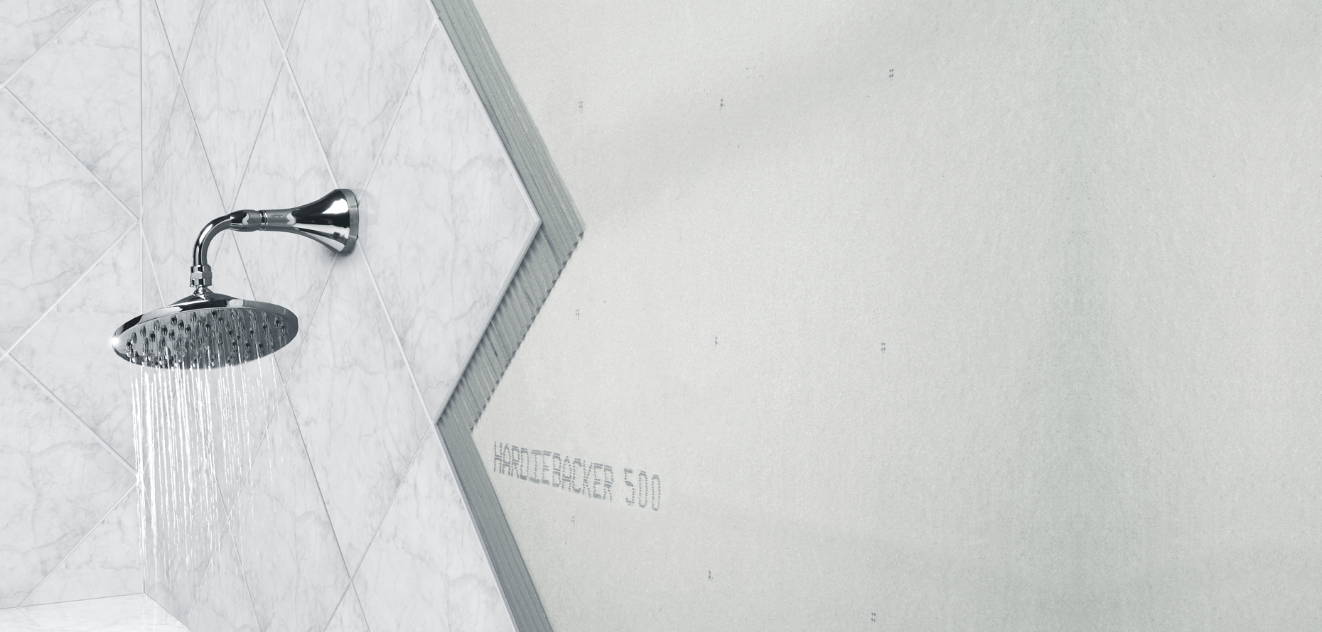 HardieBacker® Cement Board Close-up in Bathroom