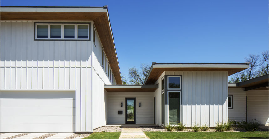 HardiePanel® Vertical Siding in a Modern Home