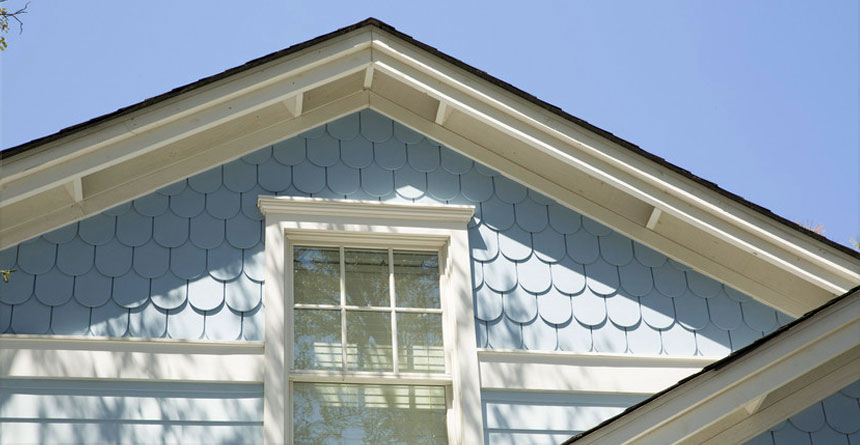 HardieShingle® Siding in Half-Round Notched Panel