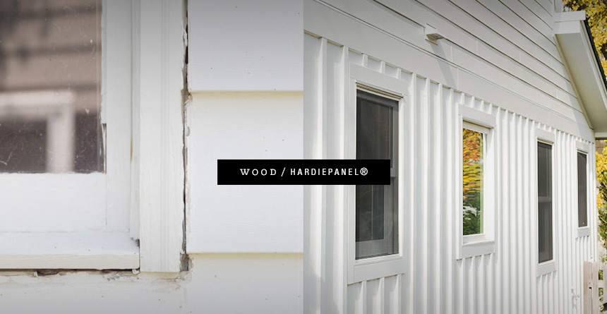 Wood vs HardiePanel