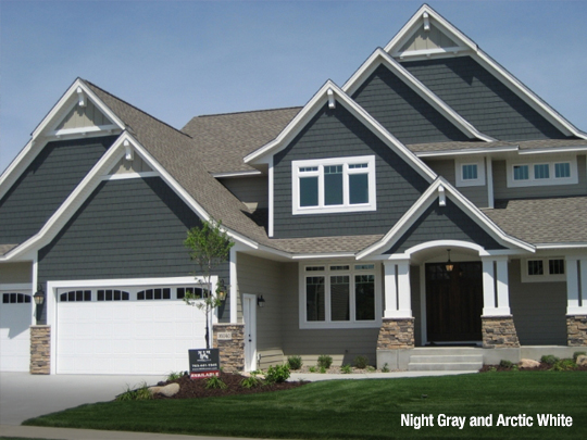 7 Popular Siding Materials To Consider: Siding And Trim Color Combinations